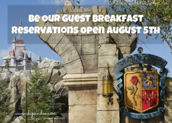 Be Our Guest Breakfast Reservations Open August 5th