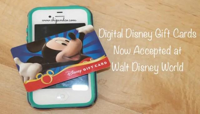 Digital Disney Gift Cards Now Accepted at Walt Disney World