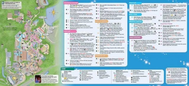 Hollywood Studios Guide Map