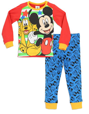 Mickey and Pluto Pajamas