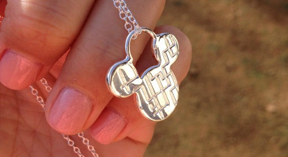 Silver Mickey Necklace