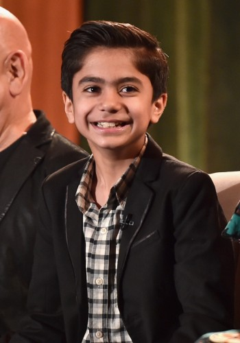"""LOS ANGELES, CALIFORNIA - APRIL 04: Actor Neel Sethi onstage at Disney's """"THE JUNGLE BOOK"""" Press Conference at The Beverly Hilton on April 4, 2016 in Los Angeles, California. (Photo by Alberto E. Rodriguez/Getty Images for Disney) *** Local Caption *** Neel Sethi"""