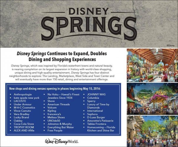 Complete List Of Disney Springs Restaurant And Stores