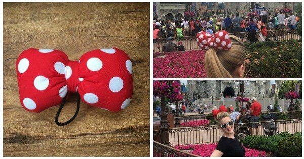 Minnie Mouse Bow Hair Ties
