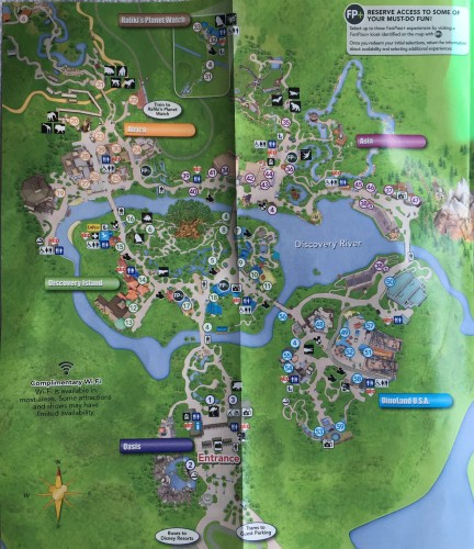 New Animal Kingdom Guide Map is Now Available