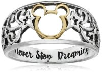 Two Tone Mickey & Minnie Mouse Rings