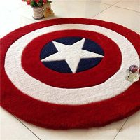 Make Any Room Heroic with the Captain America Shield Rug