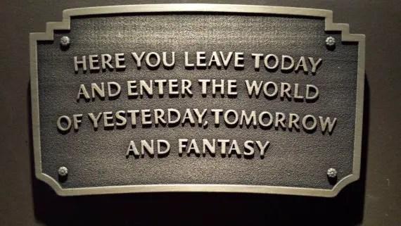 Disneyland Entrance Plaque