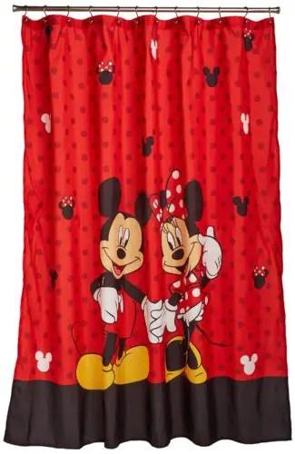 Red Disney Shower Curtain