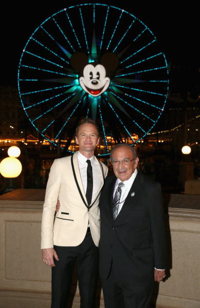 ANAHEIM, CA - NOVEMBER 01: Actor Neil Patrick Harris and Recipient of Diane Disney Miller Lifetime Achievement Award, Marty Sklar attend The Walt Disney Family Museum's 2nd Annual Gala at Disneys Grand Californian Hotel & Spa at The Disneyland Resort on November 1, 2016 in Anaheim, California. (Photo by Joe Scarnici/Getty Images for The Walt Disney Family Museum)