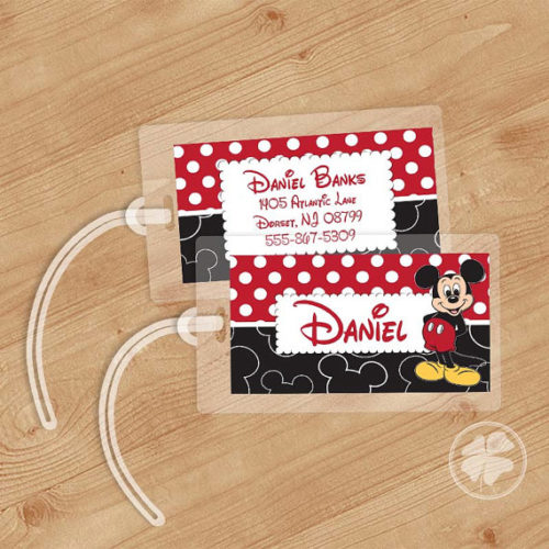 2d7176a688c6 Travel in Disney Style with Fun Mickey Mouse Luggage Tags