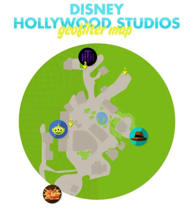 Hollywood Studios GeoFilter Map