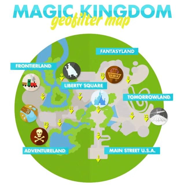 Magic Kingdom GeoFilter Map