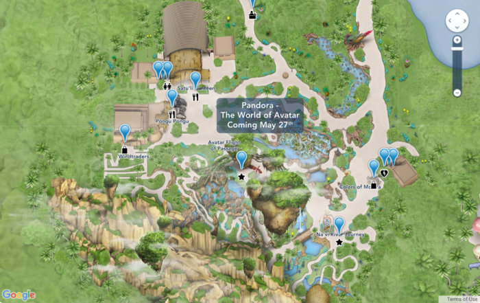 Disney Has Updated Its Online Maps to Include Pandora - The World Of ...