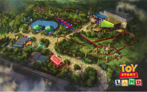 Toy Story Land Construction in Hollywood Studios Showing Progress 2