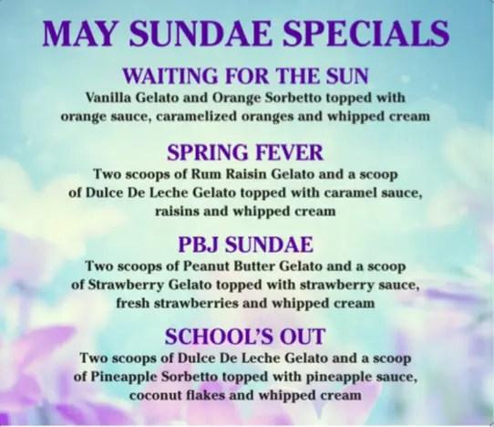 Vivoli Il Gelato, in Disney Springs, Offers May Sundae Specials 1