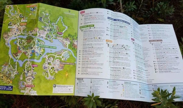 First Look at the New Animal Kingdom GUIDEMAP and New Pandora - The World of Avatar Guide 2