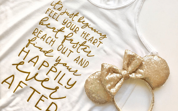 Happily Ever After Fireworks Inspired Tee