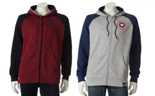 6e25840937 Marvel Hero Elite Series Spider-Man hoodie, $50. Marvel Hero Elite Series  Captain America hoodie, $50