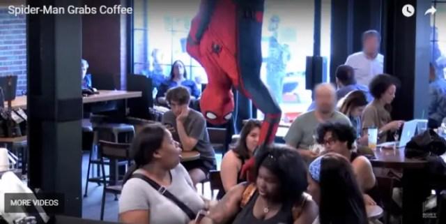 Spider Man Starbucks