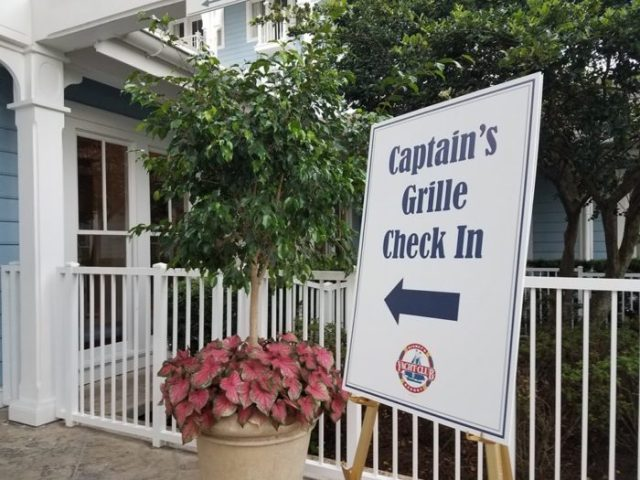 Captains Grill Check-In