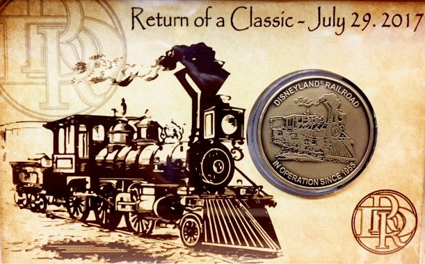 Commemorative Coin Issued To Celebrate Return of Disneyland Railroad 1