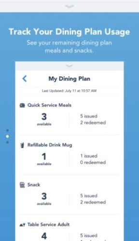 Track Your Dining Credits and More with Latest My Disney Experience Update 2
