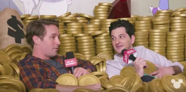 Interview With Cast of DuckTales In Scrooge's Money Bin 1