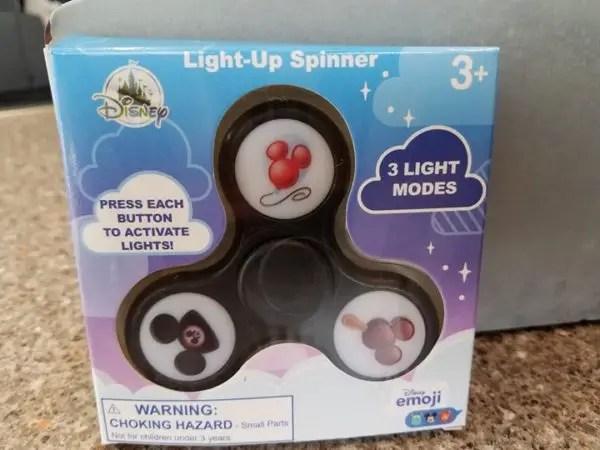 Minnie Mouse Black NEW Disney Parks Store Light-Up Emoji Fidget Spinner