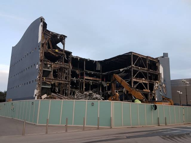 Photos Show DisneyQuest Demolition Under Way At Disney Springs To Make Room For New NBA Experience 2