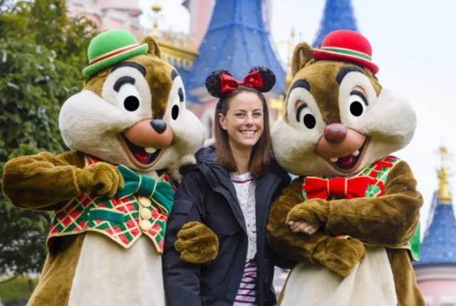 Kaya Scodelario Celebrates Christmas at Disneyland Paris 1