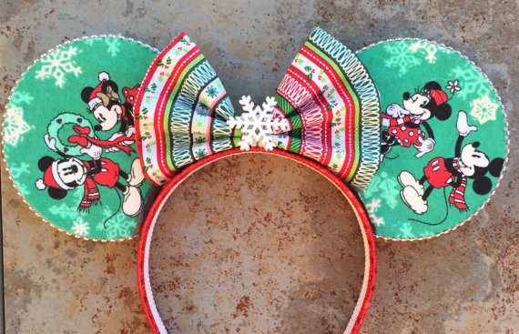 Christmas inspired Minnie ears