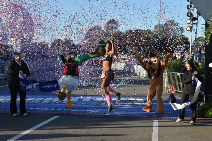 Female Runner Wins Half Marathon
