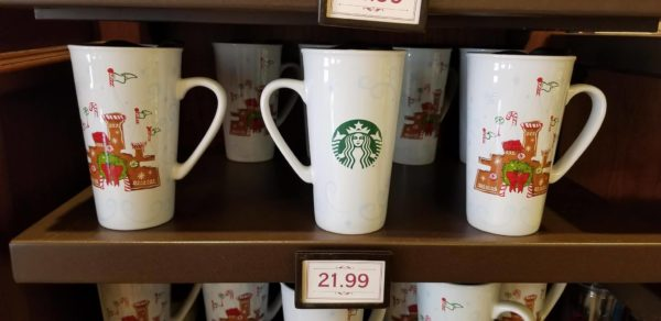 New Holiday Disney Starbucks Ceramic Mug and Ornament