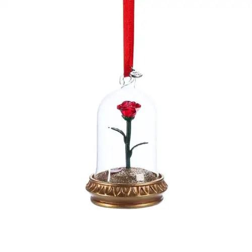 Enchanted Rose Christmas Ornament