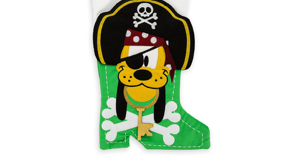 Pirate Pluto Holiday Stocking
