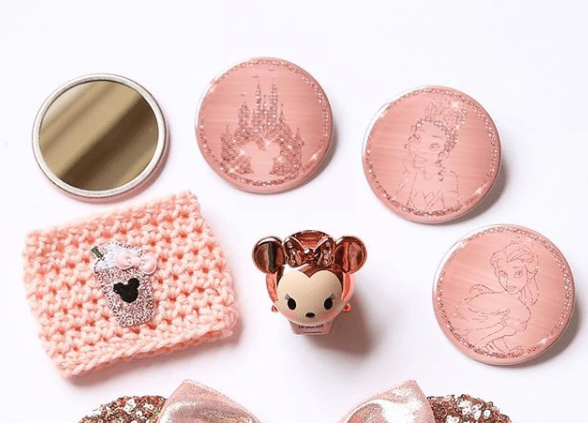 Rose gold Disney compact mirrors