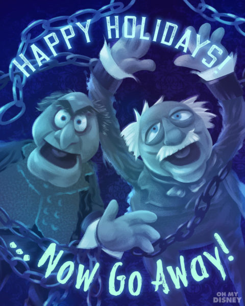 The Muppet Christmas Carol Jacob Marley.The Muppets Christmas Carol Holiday Cards