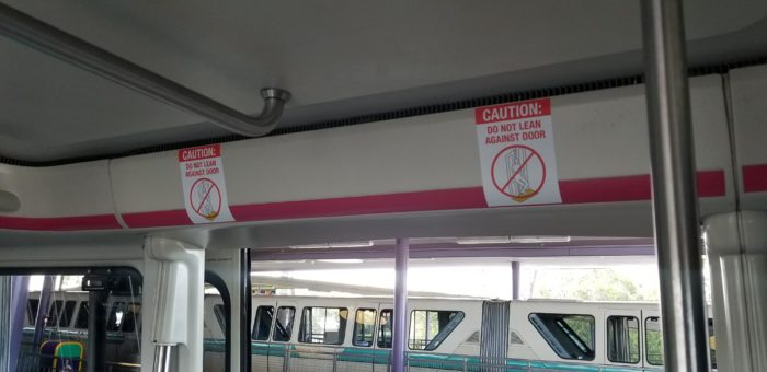 New Signage On Monorail Doors 1