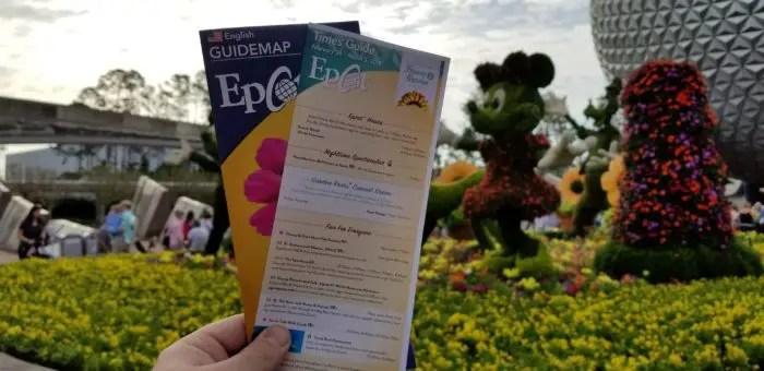 Park Maps for Epcot International Flower and Garden Festival 1