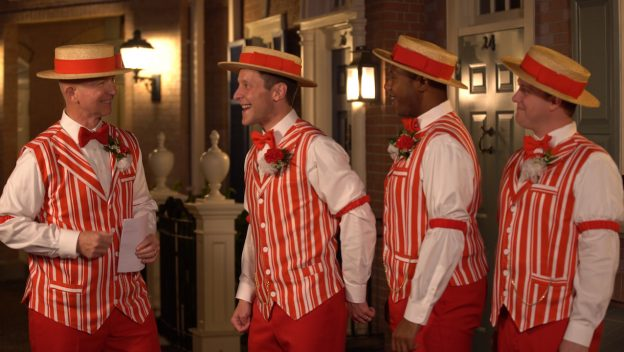 The Dapper Dans Deliver a 'Singing Villaintine' to the Haunted Mansion 1