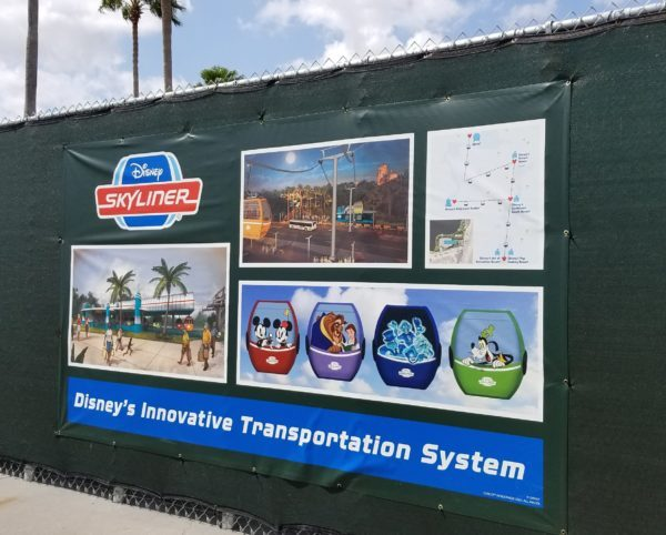Update: Disney Skyliner Supports Arrive at Hollywood Studios 1
