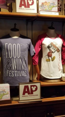 Disney California Adventure Food and Wine Festival Annual Passholder Merchandise 4