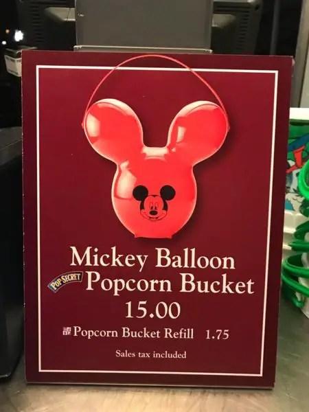 Mickey Balloon Popcorn Buckets Have Arrived at Disney World 3