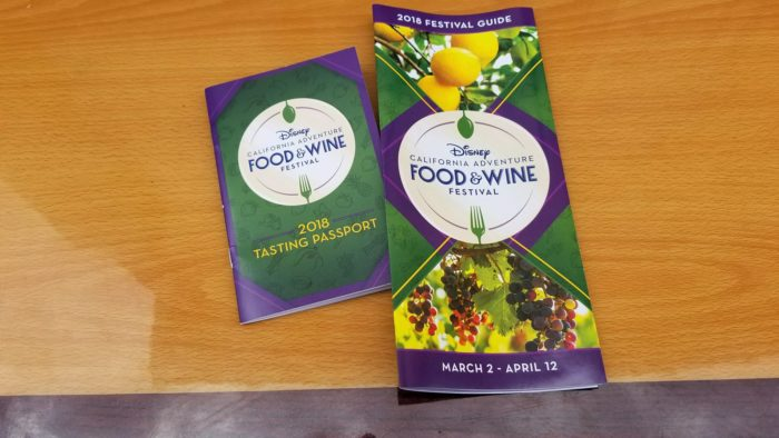 Get a Glimpse at the Guide and Tasting Passport for the California Adventure Food & Wine Festival 1