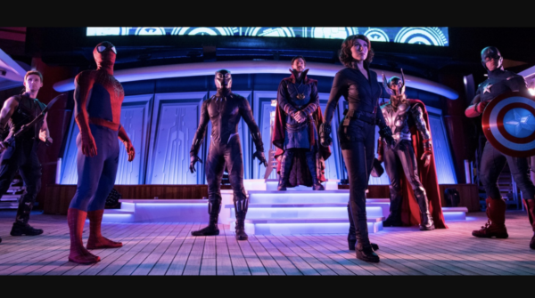 Super Heroes at Marvel Day at Sea