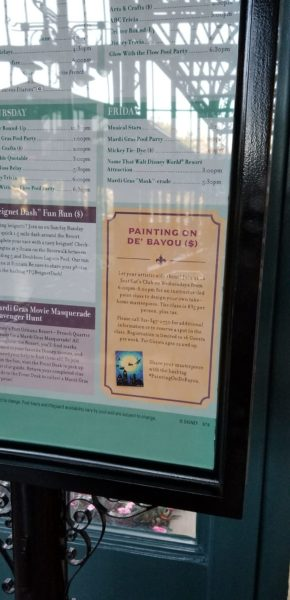 Port Orleans French Quarter Now Offering Painting Classes on Wednesday Evenings 4