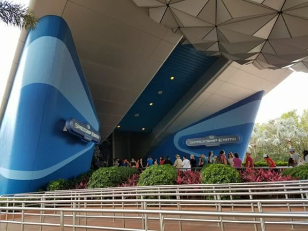 Spaceship Earth Siemens Signs Removed