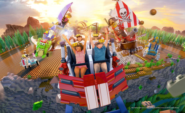 NEW! The Great LEGO Race VR Coaster - LEGOLAND Florida 6