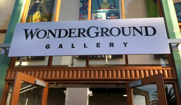 Wonderground art gallery Downtown Disney